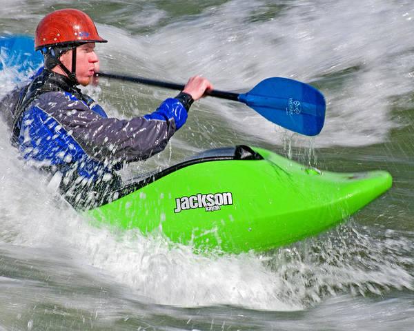 Judd Spencer Poster featuring the photograph Kayak by Elijah Weber