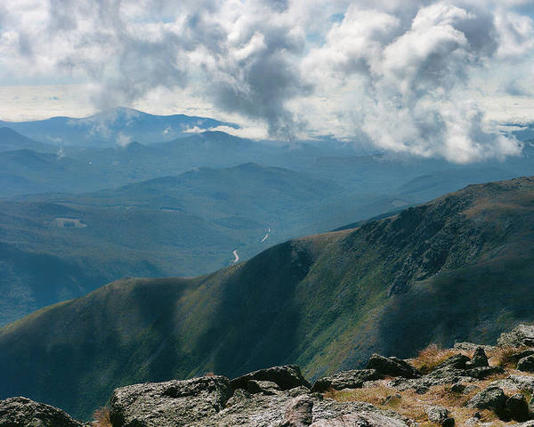 Mt Washington Poster featuring the photograph 12610 On Top Of New Hampshire by John Prichard