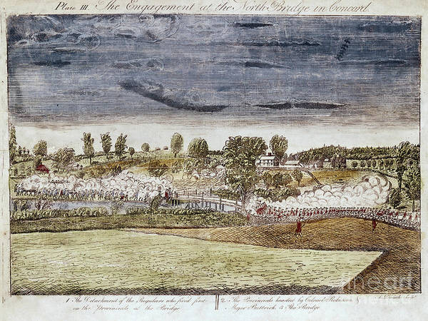 1775 Poster featuring the photograph Battle Of Concord, 1775 by Granger