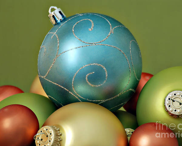 Christmas Poster featuring the photograph Christmas Ornaments by HD Connelly