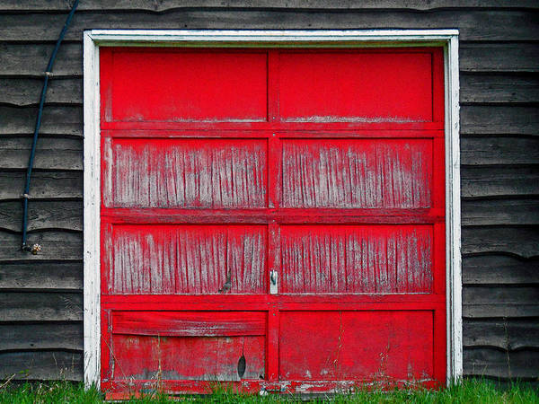 Red Door Poster featuring the photograph Willow Pond B And B by Cyryn Fyrcyd