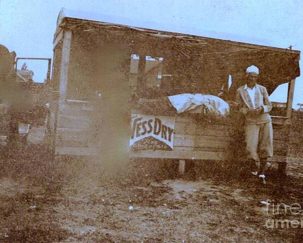 1920s Poster featuring the photograph 1920s Sepia Farm Stand by Debbie Wassmann
