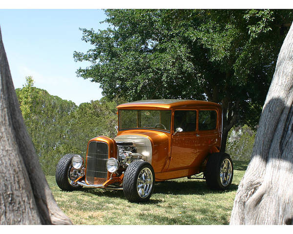 Framed Prints Of 1929 Ford Model A Poster featuring the photograph 1929 Ford Butter Scorch Orange by Jack Pumphrey