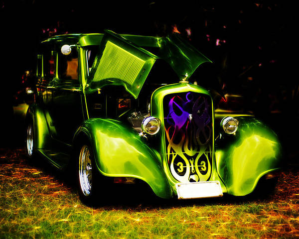 Chrysler Poster featuring the photograph 1933 Plymouth Hot Rod by Phil 'motography' Clark