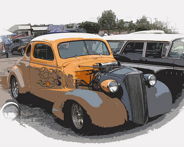 Hot Rod Poster featuring the photograph 1937 Chevy Coupe by Steve McKinzie