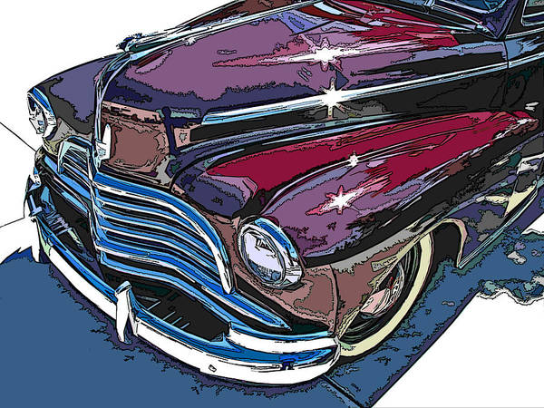 1946 Poster featuring the photograph 1946 Chevrolet Front Study by Samuel Sheats