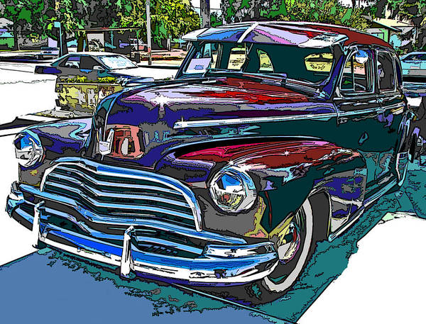 1946 Poster featuring the photograph 1946 Chevrolet by Samuel Sheats