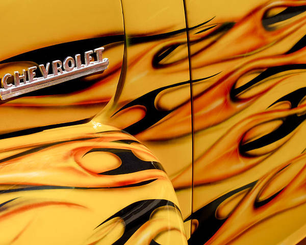 1952 Chevrolet Pickup Truck Poster featuring the photograph 1952 Chevrolet Pickup Truck Emblem by Jill Reger