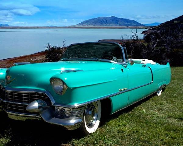 1954 Poster featuring the photograph 1954 Cadillac Convertible by Tim McCullough