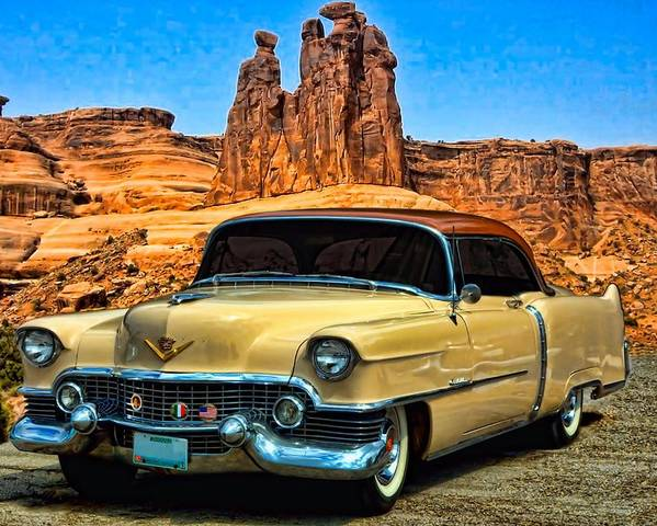 1954 Cadillac Poster featuring the photograph 1954 Cadillac Coupe Deville by Tim McCullough