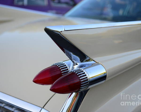 1958 Cadillac Tail Lights Poster featuring the photograph 1958 Cadillac Tail Lights by Paul Ward