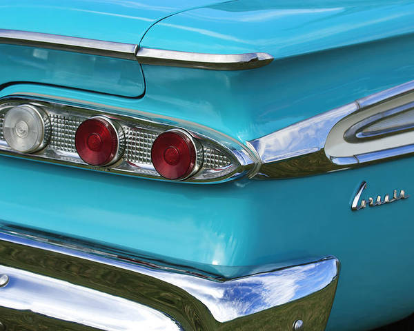1959 Edsel Corvair Poster featuring the photograph 1959 Edsel Corvair Taillights by Jill Reger