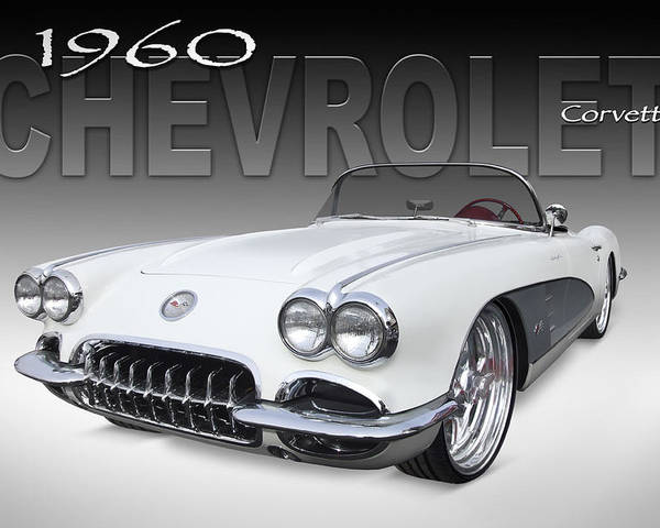 Chevy Poster featuring the photograph 1960 Corvette by Mike McGlothlen