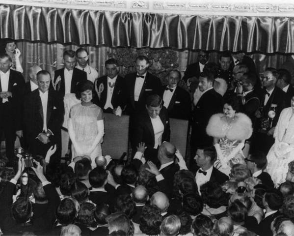 History Poster featuring the photograph 1960 Inaugural Ball. President Kennedy by Everett
