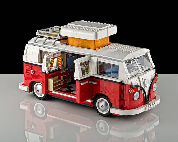 Truck Poster featuring the photograph 1962 Vw Lego Bus by Noah Katz