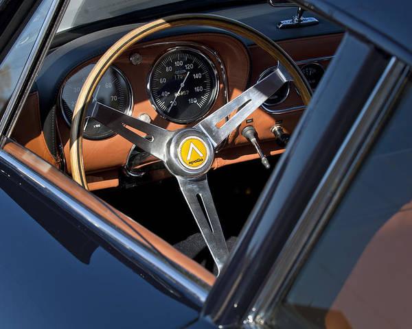 1963 Intermeccanica Apollo Poster featuring the photograph 1963 Apollo Steering Wheel   by Jill Reger