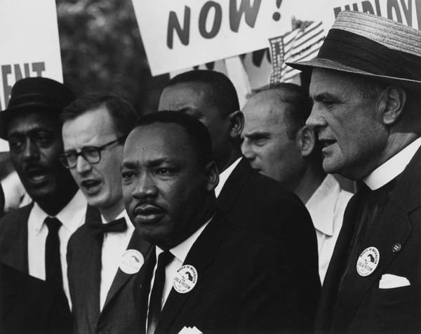 History Poster featuring the photograph 1963 March On Washington. Martin Luther by Everett