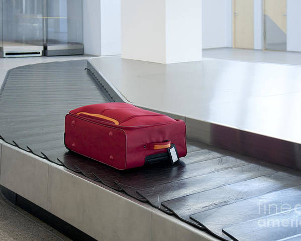 Air Travel Poster featuring the photograph Airport Baggage Claim by Jaak Nilson