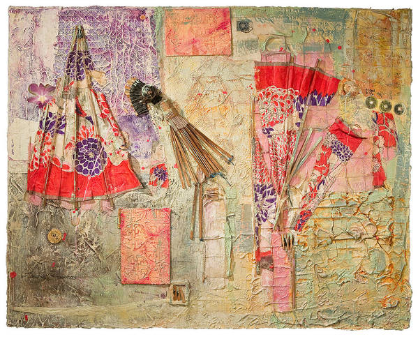 Asian Poster featuring the mixed media Anatomy Of A Parasol by Regina Thomas