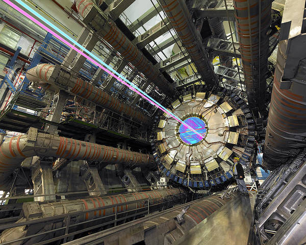 Atlas Poster featuring the photograph Atlas Detector, Cern by David Parker
