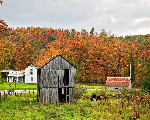 West Virginia Poster featuring the photograph Autumn Farm by Steve Harrington