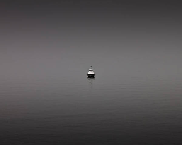 Haze Poster featuring the photograph Buoy by Joana Kruse