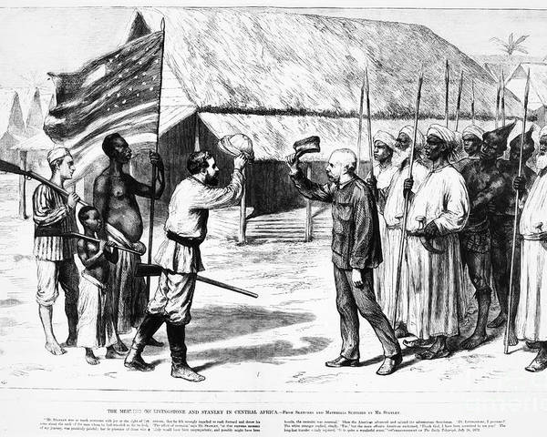 1871 Poster featuring the photograph David Livingstone by Granger
