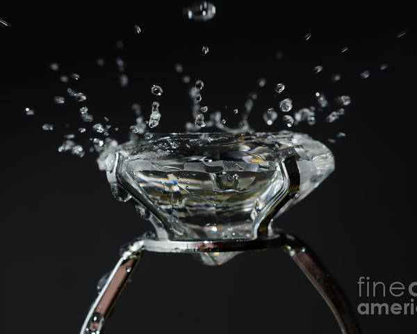 Drop Poster featuring the photograph Diamond Ring by Mats Silvan