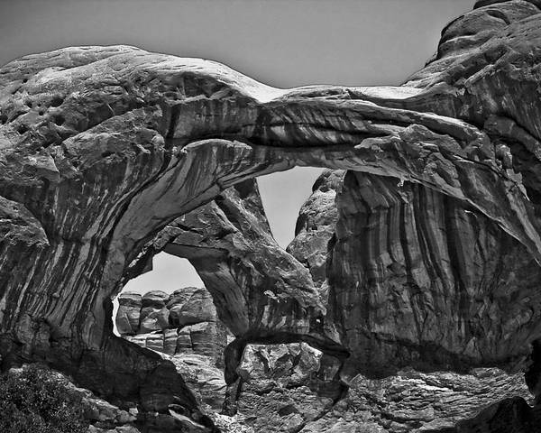 Moab Poster featuring the photograph Double Arch by PMG Images