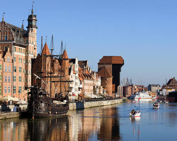 Gdansk Poster featuring the photograph Gdansk In Poland by Artur Bogacki