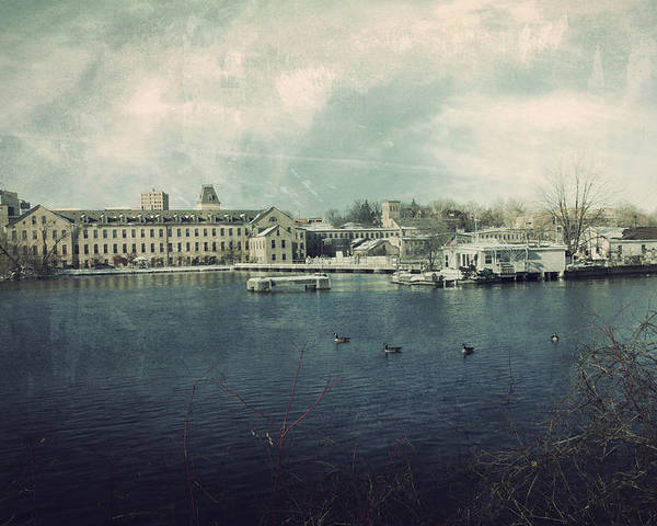 Fox River Mills Poster featuring the photograph Historic Fox River Mills by Joel Witmeyer