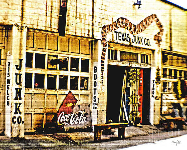Texas Junk Company Poster featuring the photograph Junk Company by Scott Pellegrin