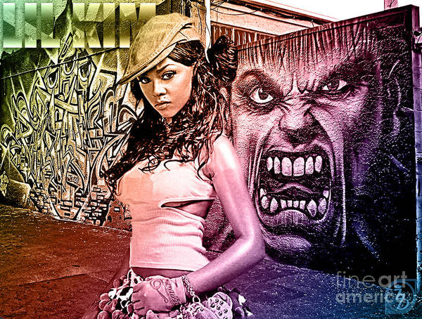 Digital Art Poster featuring the digital art Lil Kim by The DigArtisT