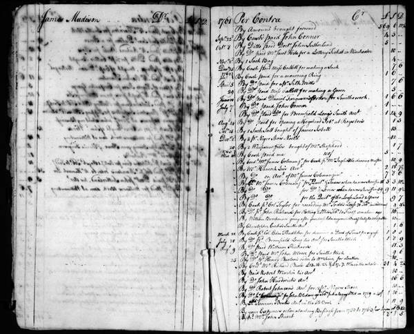 1761 Poster featuring the photograph Madison: Account Book by Granger