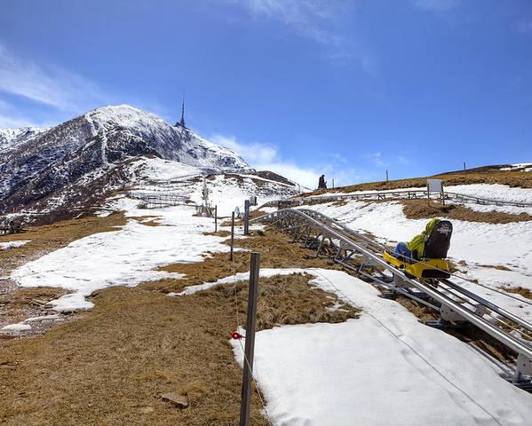 Monte Tamaro Poster featuring the photograph Monte Tamaro - Alpe Foppa - Ticino - Switzerland by Joana Kruse