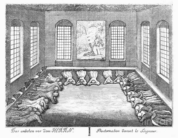 1757 Poster featuring the photograph Moravians, 1757 by Granger
