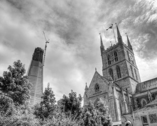 Shard Poster featuring the photograph New and Old by Chris Day