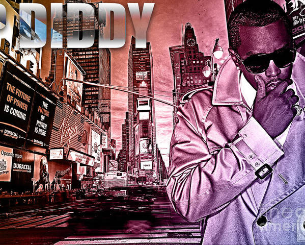 Diddy Poster featuring the digital art P Diddy by The DigArtisT