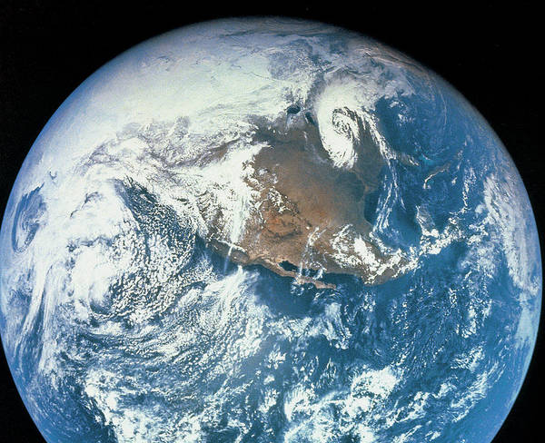 Horizontal Poster featuring the photograph Planet Earth Viewed From Space by Stockbyte