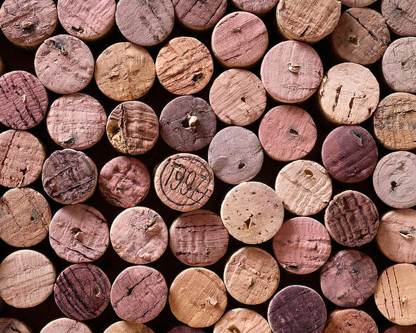 Wine Poster featuring the photograph Red Wine Corks by Frank Tschakert