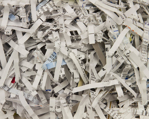 Shredded Poster featuring the photograph Shredded Paper by Blink Images