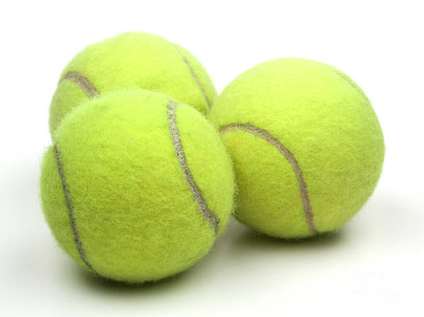 Tennis Ball Poster featuring the photograph Tennis Balls by Blink Images
