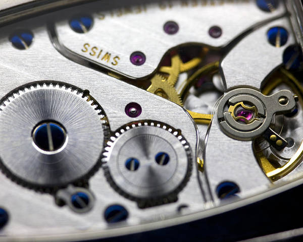 Gear Poster featuring the photograph Wrist Watch Interior by Pasieka