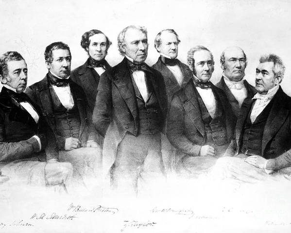 1849 Poster featuring the photograph Zachary Taylor (1784-1850) by Granger