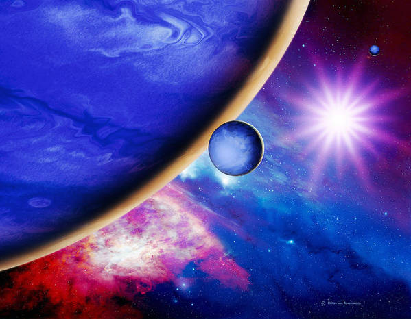 Artwork Poster featuring the photograph Alien Planet by Detlev Van Ravenswaay