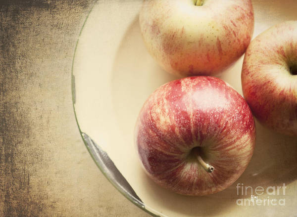 Fruit Poster featuring the photograph 3 Apples by Pam Holdsworth