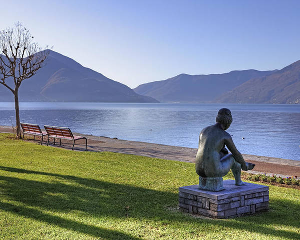 Sculpture Poster featuring the photograph Ascona - Lake Maggiore by Joana Kruse