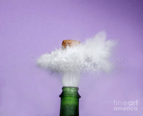 Alcohol Poster featuring the photograph Champagne Cork Popping by Ted Kinsman