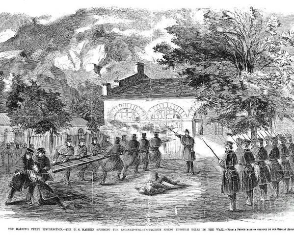 1859 Poster featuring the photograph Harpers Ferry, 1859 by Granger