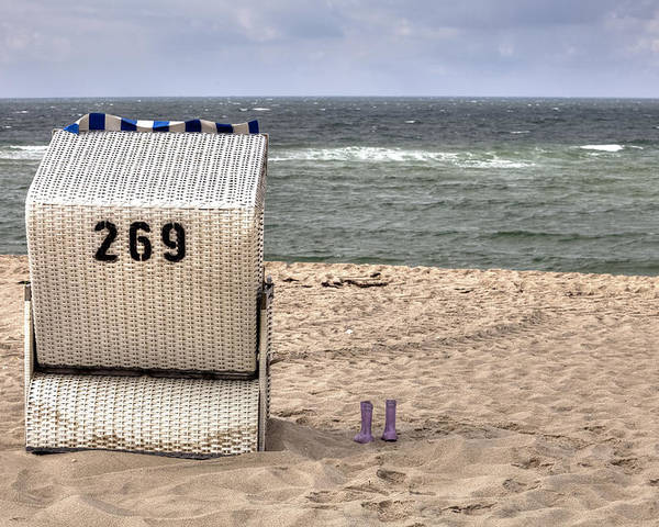 Beach Chair Poster featuring the photograph Hoernum - Sylt by Joana Kruse